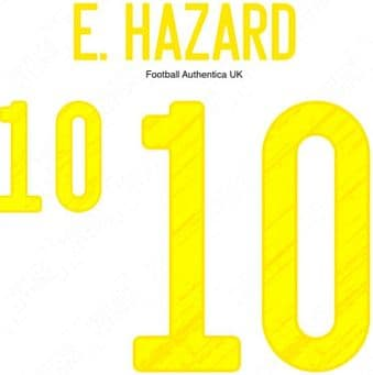 Belgium EURO 2021 Home Shirt 2020-21 E.HAZARD#10 Adidas Dekographics Football Name Number Set