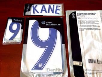 EURO 2016 England Home Shirt 2016-17 KANE#9 Nike PS-Pro Sporting iD Name Number Set