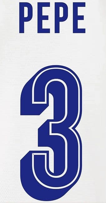 FC Porto EUROPA/UCL Away & Third Shirt 2019-20/21 PEPE#3 Official Football Name Number Set