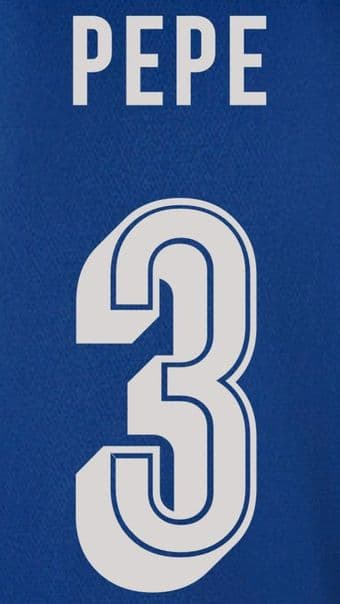 FC Porto EUROPA/UCL Away/Third Shirt 2019-20/21 PEPE#3 Official Football Name Number Set
