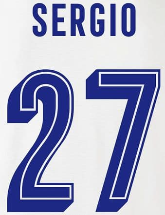 FC Porto EUROPA/UCL Away & Third Shirt 2019-20/21 SERGIO#27 Official Football Name Number Set