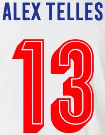 FC Porto EUROPA/UCL Home Shirt 2019-20/21 ALEX TELLES#13 Official Football Name Number Set