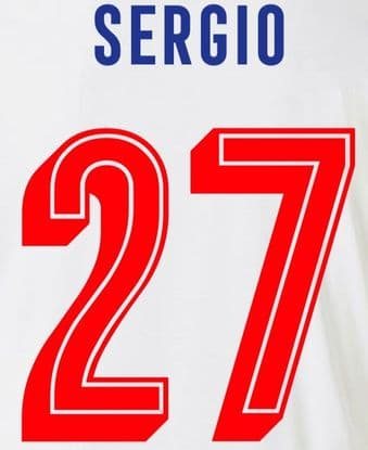FC Porto EUROPA/UCL Home Shirt 2019-20/21 SERGIO#27 Official Football Name Number Set