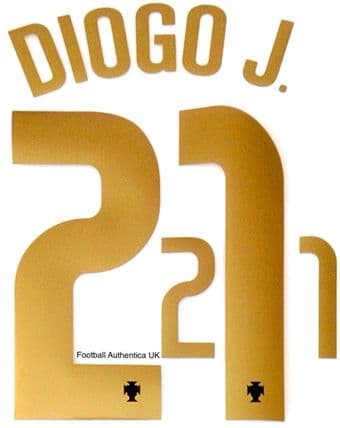 Portugal EURO 2021 Home Shirt 2020-21 DIOGO J.#21 Nike PS-Pro SportingiD Name Number Set