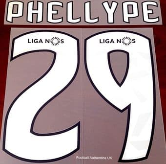 Sporting CP Lisbon LIGA NOS Home/Away Shirt 2018-19/20 PHELLYPE#29 Official SIPESA Name Number Set