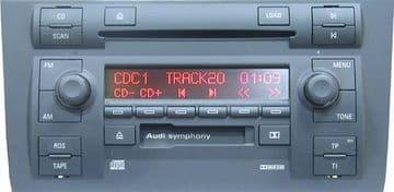 Audi Symphony CQ-LA 1821L CQLA1821L Matsushita Radio Code Decoding Decode Unlock Codelocked Service