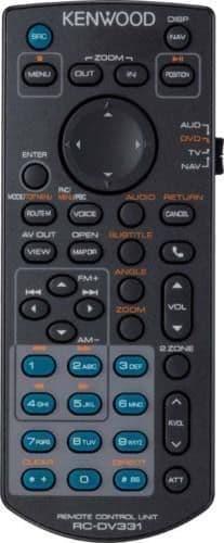 Kenwood DDX4017DAB DDX-4017DAB DDX 4017DAB Remote control KNA-RCDV331
