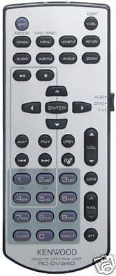 Kenwood DDX4038BT DDX 4038BT RC-DV340 RCDV340 Remote control