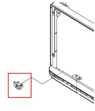 Kenwood DMX-7017DABS DMX 7017DABS DMX7017DABS  Left side blank button Genuine spare part