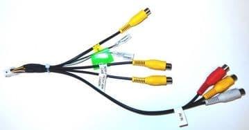 Kenwood DNX7230DAB DNX-7230DAB DNX 7230DAB AV Output AV Input Rear View Camera Lead plug RCA