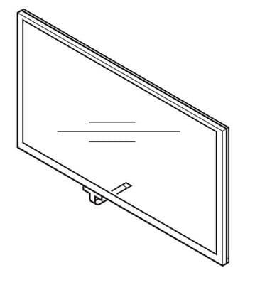 Mitsubishi MXDZ07MM2 Touch Screen Panel Assy