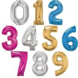 Number Foils in Assorted Colours