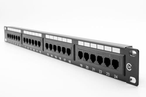 "1U 19"" 24 Port CAT5E Patch Panel (Dual Use) (UTP) PPAN-24-LC2"