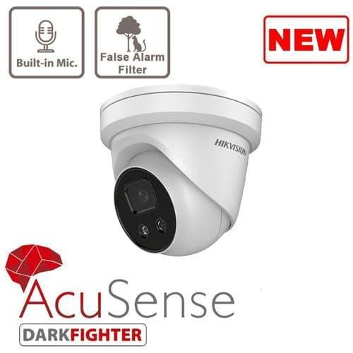 2MP DS-2CD2326G2-IU HD AcuSense Turret IP Surveillance Network Camera