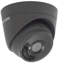 2MP DS-2CE56D8T-IT3E Grey Hikvision Ultra Low Light Poc Fixed Lens Turret Dome Camera, 40m Ir
