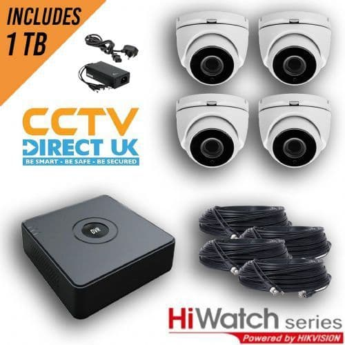 2MP Motorized HiWatch Kit In White In White With Cable And 1TB