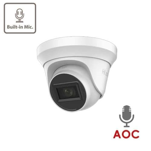 2MP THC-T220-MS HiLook TVI Turret with built-in Mic
