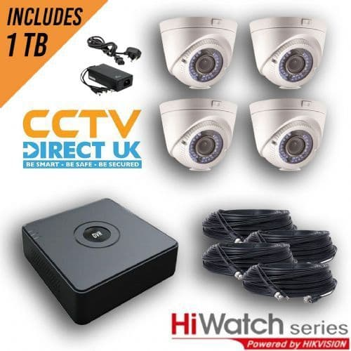 2MP Varifocal HI-Watch Kit In White With Cable And 1TB