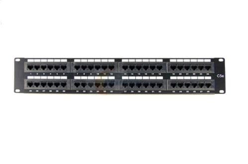 "2U 19"" 48 Port CAT5E Network RJ45 Patch Panel (UTP) PPAN-48-LC"