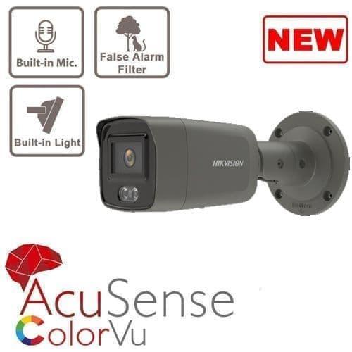 4MP DS-2CD2047G2-LU/G GREY ColorVu Mini Bullet Camera W/ Mic