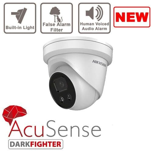 4MP DS-2CD2346G1-I/SL AcuSense Hikvision  Indoor IR Fixed Turret Network Camera