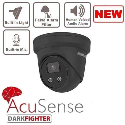 4MP DS-2CD2346G2-ISU/SL/G Grey AcuSense Strobe Light and Audible Warning Turret Network Camera