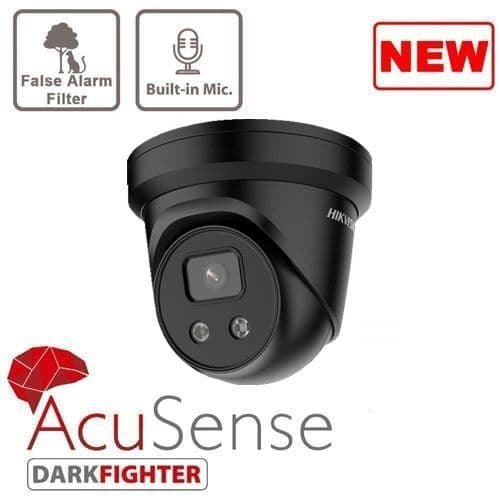 4MP DS-2CD2346G2-IU BLACK AcuSense Hikvision Outdoor IR Fixed Turret Network Camera