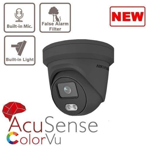 4MP DS-2CD2347G2-LU/G ColorVu Fixed Turret Network Camera GREY