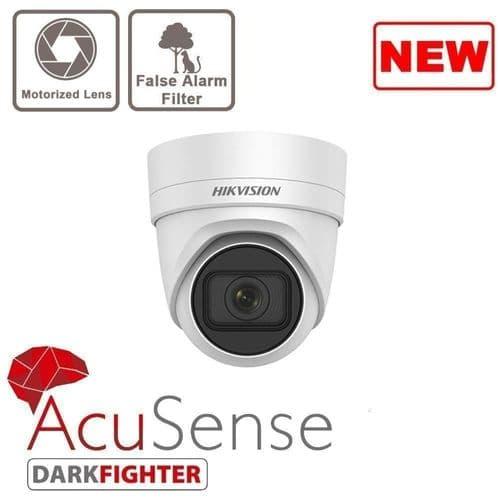 4MP DS-2CD2H46G2-IZS Acusense Motorized Varifocal Turret Network Camera