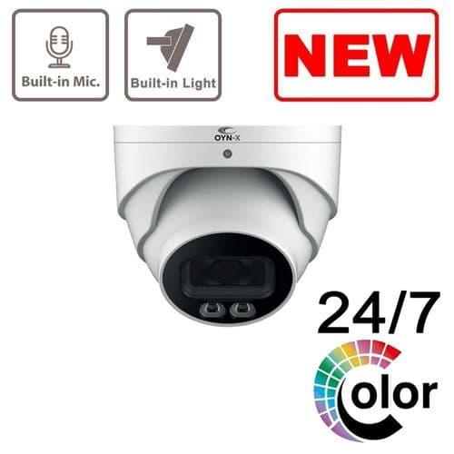 4MP Eagle Full Colour Fixed Lens IP Network Turret Camera (White) POE OYN-X Dahua EAGLE4C-IP-TUR-FW