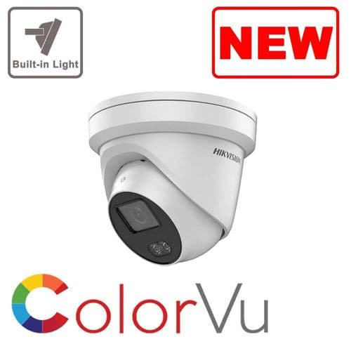 4MP IP DS-2CD2347G1-L ColorVu Hikvision Fixed Turret Network Camera