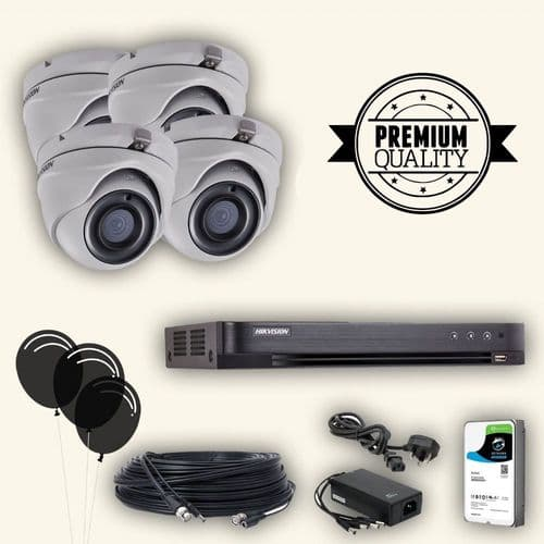 5MP 4 Camera TVI Kit With 8 Channel Recorder