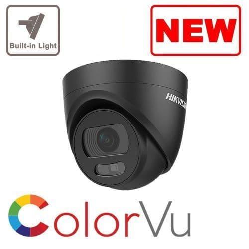 5MP DS-2CE72HFT-E /Black POC Black 5MP ColorVu 2.8 mm Fixed Lens Turret Camera, 20m White Light