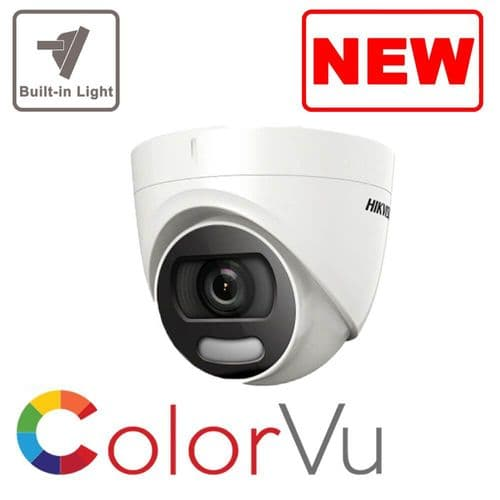 5MP DS-2CE72HFT-F28 Hikvision 5MP ColorVu Fixed Lens Turret Camera, 20m White Light, IP67