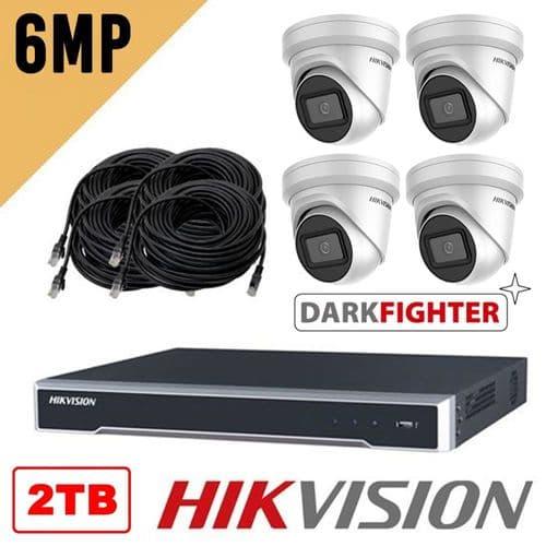 6MP 4 Camera IP Kit 8POE Recorder RRP 2TB