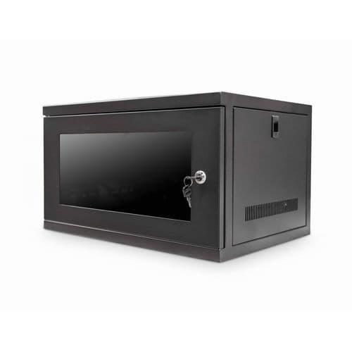 "6U 450mm 19"" Data Rack Wall Cabinet - BLACK CAB-W6U-EL450"