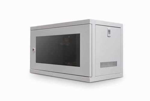 """6U 450mm 19"""" Data Rack Wall Cabinet - GREY CAB-W6U-EL450G"""