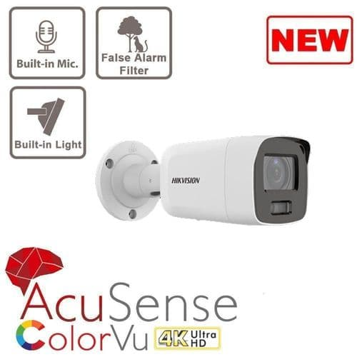 8MP DS-2CD2087G2-LU ColorVu Fixed Bullet Network Camera