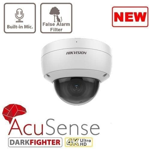 8MP DS-2CD2186G2-ISU AcuSense Fixed Dome Network Camera 4K