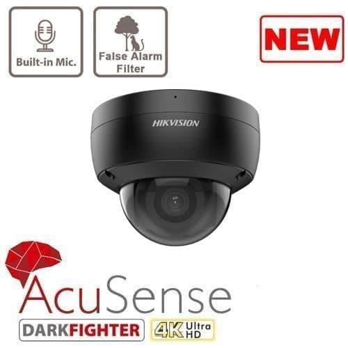 8MP DS-2CD2186G2-ISU/B AcuSense Fixed Dome Network Camera 4K Black