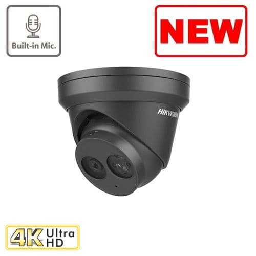8MP DS-2CD2383G0-IU/B BLACK EasyIP 2.0 plus Microphone Fixed Turret