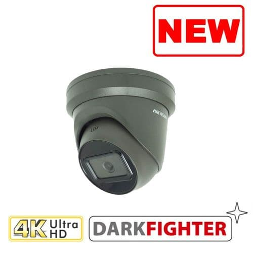 8MP DS-2CD2385G1-I-G IR Hikvision Fixed Turret Network Camera Grey
