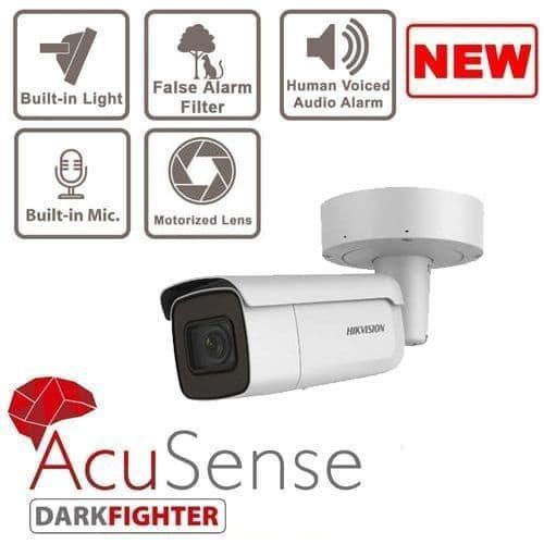 8MP DS-2CD2686G2-IZSU/SL Varifocal Bullet Network Camera With Strobe Light and Audio Alarm Acusense