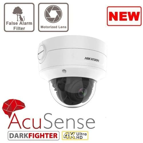 8MP DS-2CD2786G2-IZS Acusense 8MP Motorized Varifocal Dome Network Camera