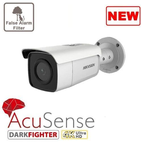 8MP DS-2CD2T86G2-2I Hikvision AcuSense Darkfighter IP Bullet Camera,  Fixed Lens 50m IR IP67