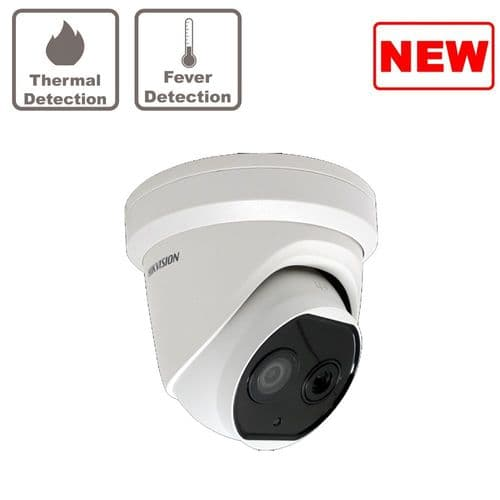 DS-2TD1217B-6/PA Hikvision thermographic turret body temperature measurement camera 6.2mm