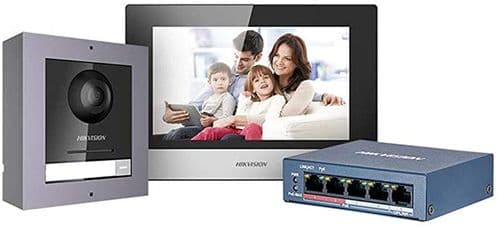 DS-KIS602 Video Intercom IP POE Bundle Indoor Station + Outdoor Station + 4 Port POE Switch