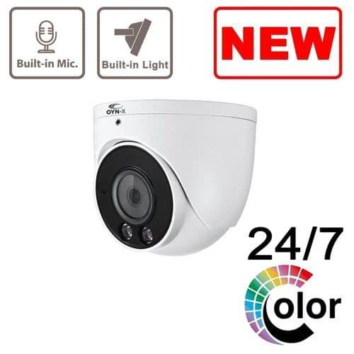 Eagle 5MP Full-Colour Fixed Lens Big Turret Camera with Audio (White) E5-TUR-A-FW2