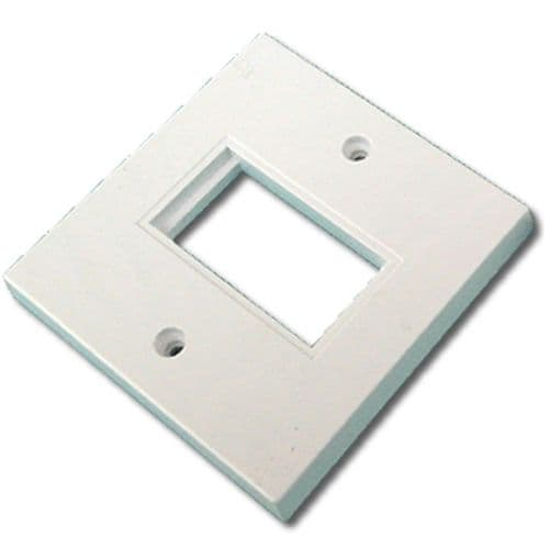 Faceplate 1 Port 86 x 86mm Single Port Low Profile for RJ45 Modules