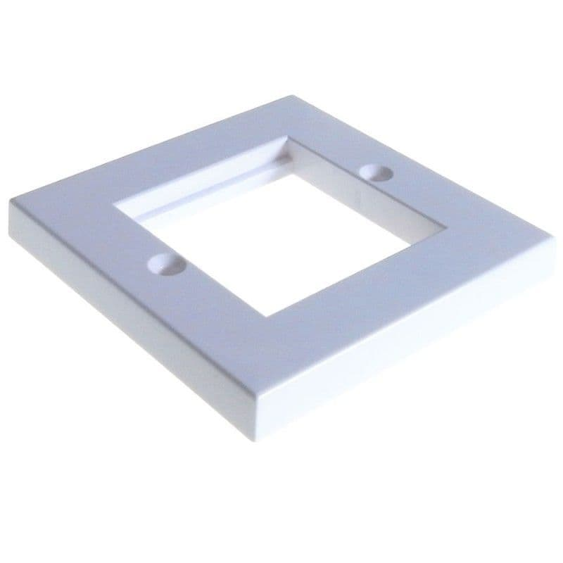 Faceplate 2 Port 86 x 86mm Low Profile Double Gang for RJ45 Modules
